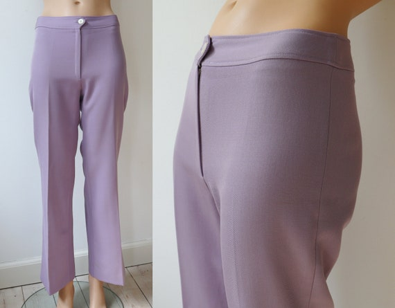 Purple 70s Vintage Flare Pants // High Waisted Pan