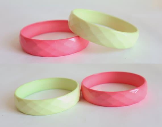 2 Bracelets // Yellow Pink // Squares - image 2
