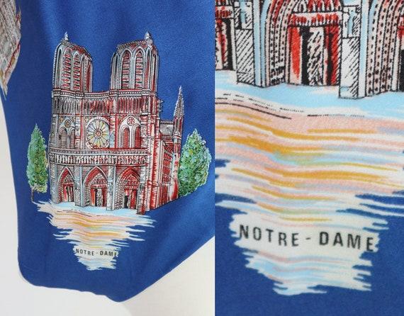 Blue Vtg. Souvenir Scarf // Bonjour Paris // Made… - image 7