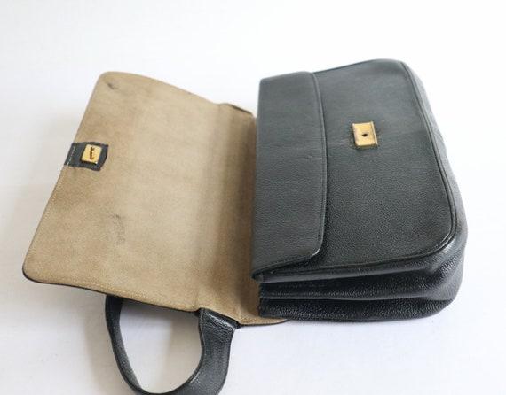 Black 50s Vtg. Top Handle Bag