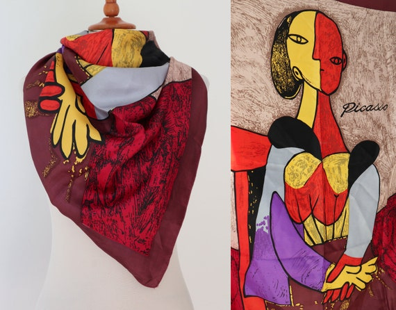 Colorful Vintage Scarf // Picasso