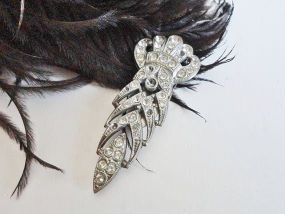 30s Dress Clip With Crown // Art Deco