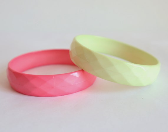 2 Bracelets // Yellow Pink // Squares - image 4
