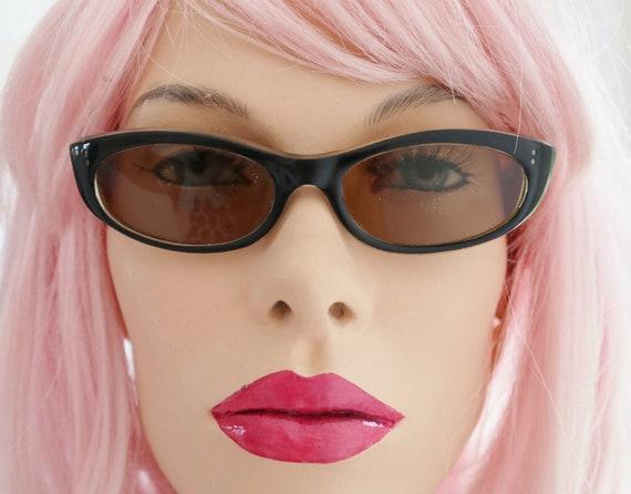 Cool 50s Sunglasses // Black/Transparent // Womens