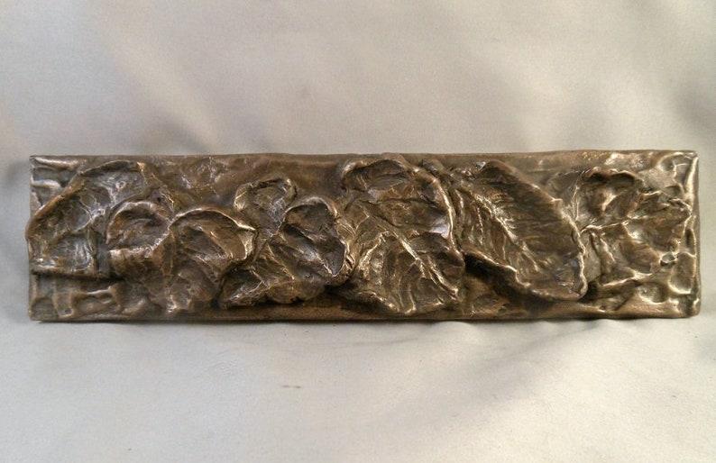 Nickel//Silver Fruit Decorative Liner Bar Out Corner by Metal Tile Arts Mfg.