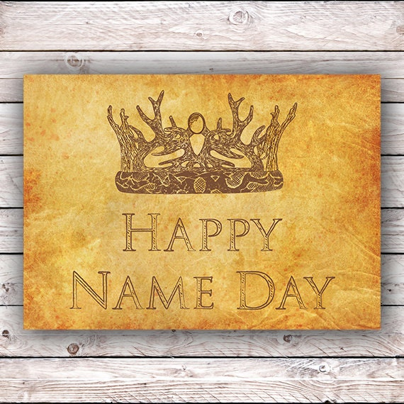 happy name day happy birthday game of thrones printable etsy