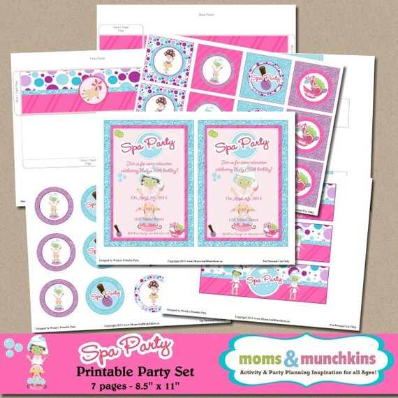 Spa Party Printables