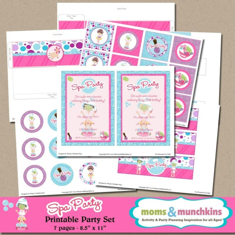 picture regarding Spa Party Printable referred to as Spa Get together Printables