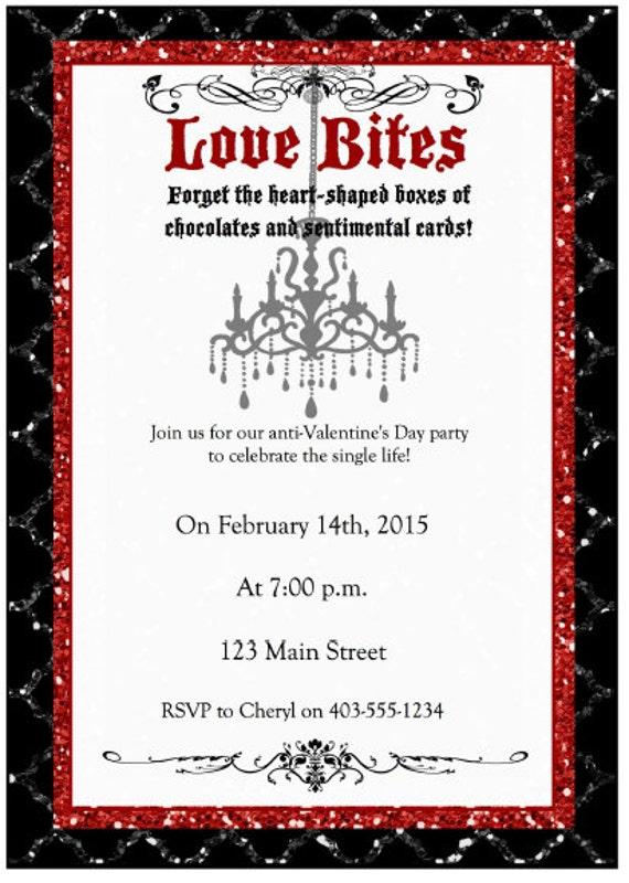 Anti Valentine S Day Party Invitation