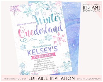 winter wonderland invitation etsy