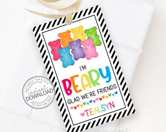 Gummy Bear Favor Tag, Gummy Bear Thank You Tag, Candy Tag, Candy Party Sticker, Thank You Tag, Candy Party, Candy Party Tags   748