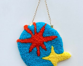 Retro twinkle tufted wall hanging