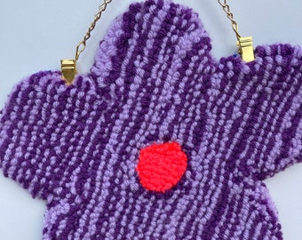 Fuzzy Flower tufted wall hanging