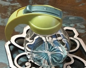 Mini vintage yellow Syrup Dispensers or Pourer