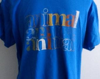 Blue animal tee-shirt / surf