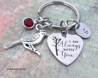 Letter S Floral Monogram Initial Heart Love Metal Keychain Key Chain Ring