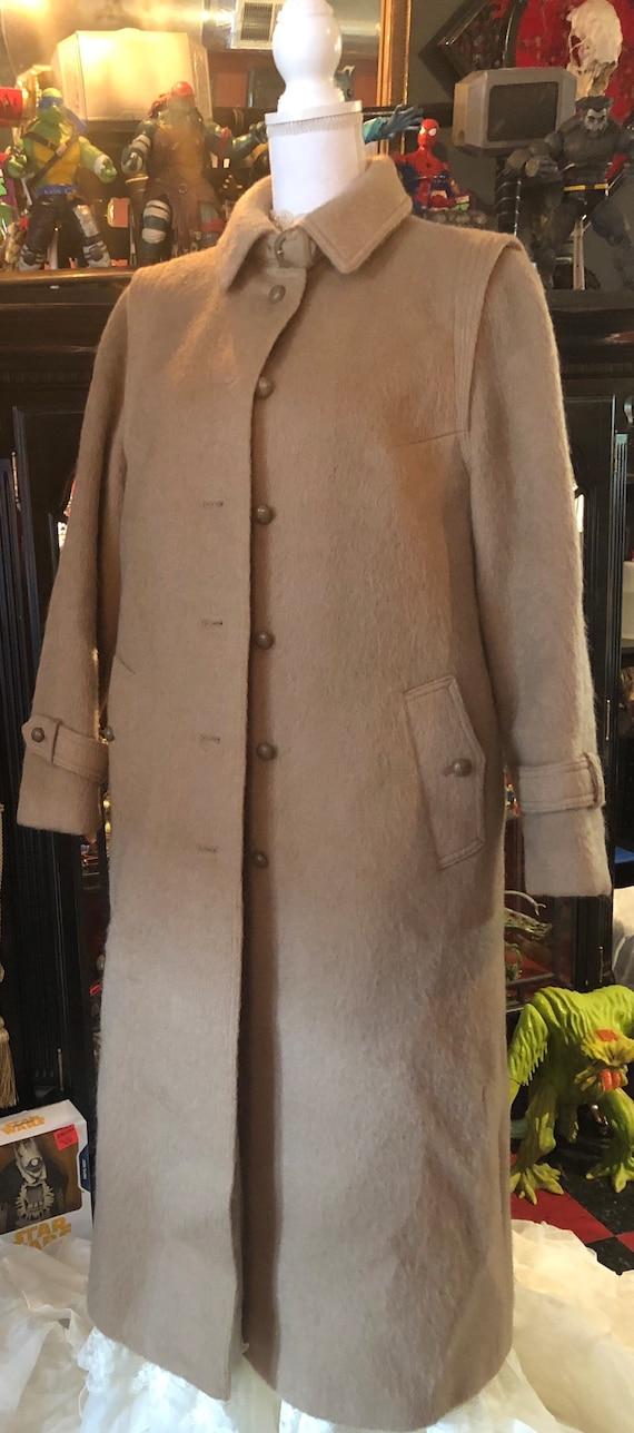 1980's LODENFREY Women's Camel Brown Wool & Mohair