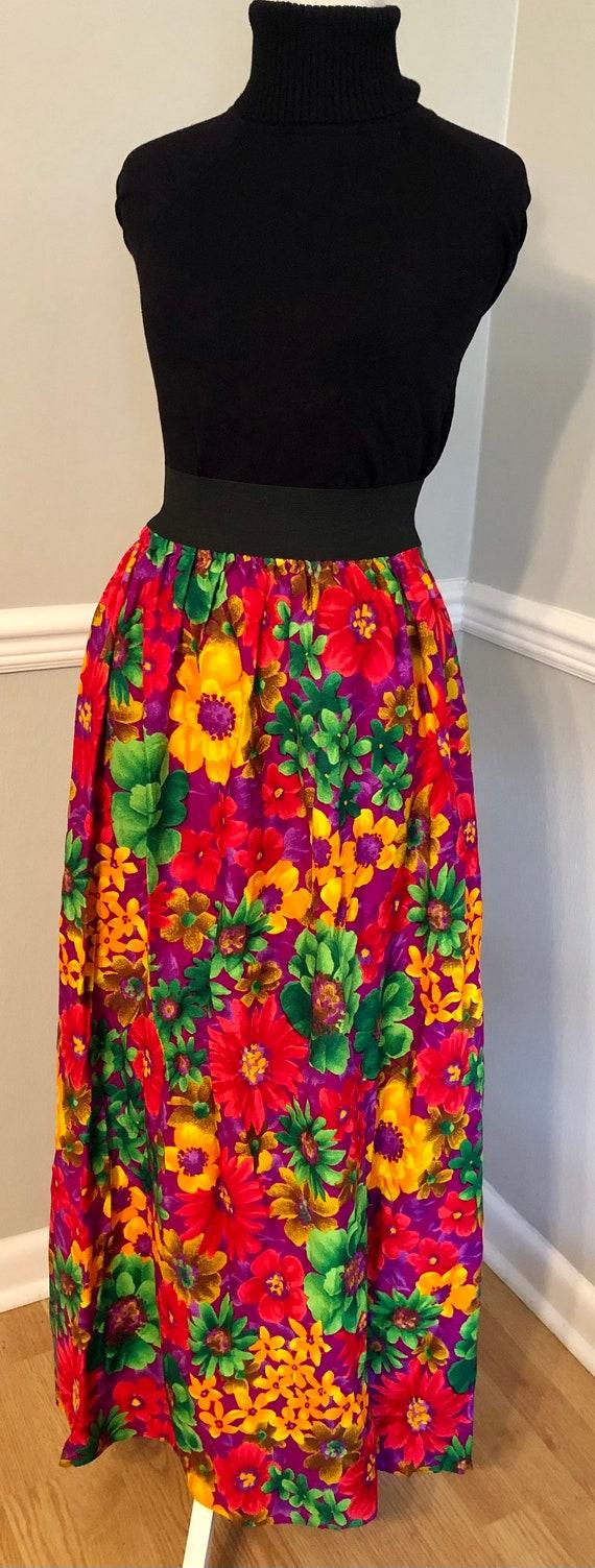 MOD 60s Psychadelic Maxi Skirt!