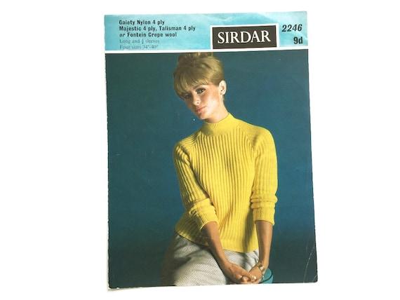 Sweater Knitting Pattern Sirdar Pattern 2246 Raglan Etsy