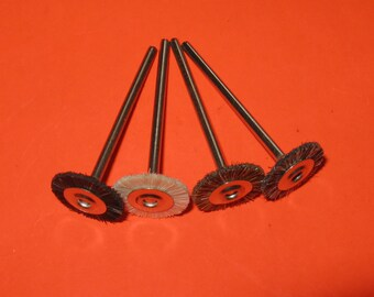 British 14mm natural hair rotary  polishing brushes 2.35mm shank