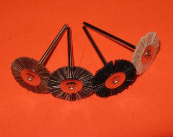 British 21mm natural bristle mini rotary polishing brushes 2.35mm shank