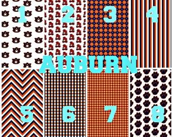 Auburn Pattern Vinyl, Adhesive, Outdoor 651 Vinyl, HTV, Heat Transfer Vinyl, Iron On Vinyl. Football Teams