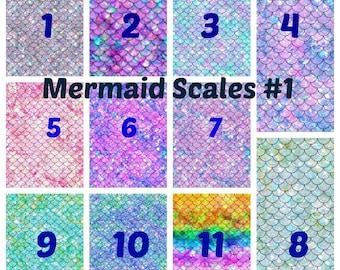 Pattern Vinyl, Mermaid Vinyl, Mermaid Scales #1, Adhesive 651 Vinyl, HTV, Vinyl Decals, Heat Transfer Vinyl