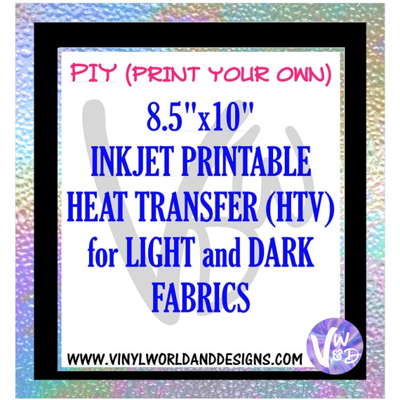 Inkjet Printable Heat Transfer Sheets Diy Printed Transfers Etsy