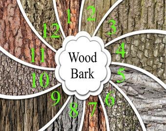 Pattern Vinyl, HTV, Wood Bark Tree, HTV Prints Adhesive Outdoor 651 Vinyl, HTV, Heat Transfer Vinyl, Iron On Vinyl