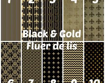 Black and Gold, Fluer de lis, HTV, Adhesive, Outdoor 651 Vinyl, HTV, Heat Transfer Vinyl, Iron On Vinyl, Chevron, Football, Saints