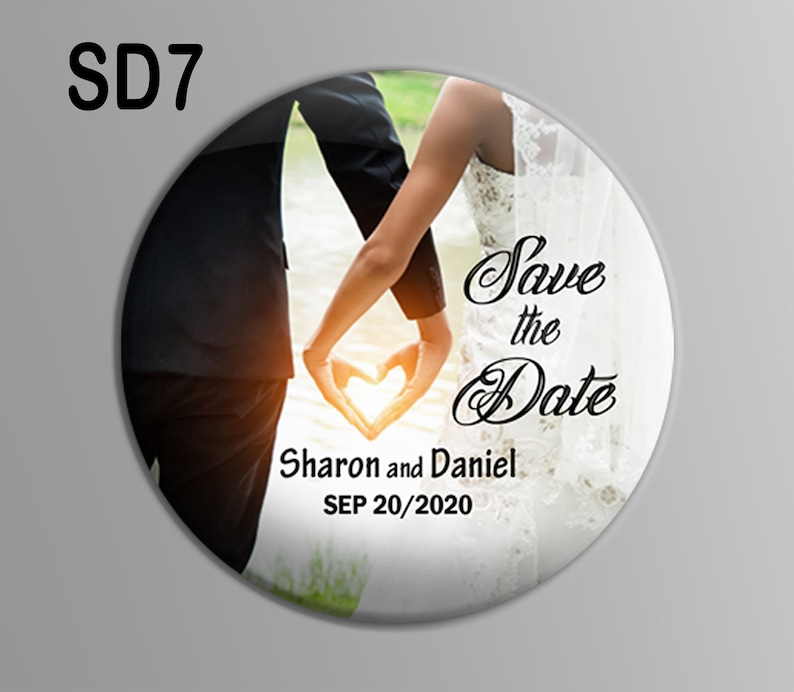 Save the date magnets FREE SHIPPING Custom Magnet 2.25 inch personalised save the date Wedding save the date