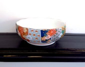 Vintage Arita Imari Fan Porcelain Bowl