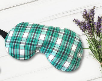 Pin Stripe & Plaid Lavender Sleep Mask
