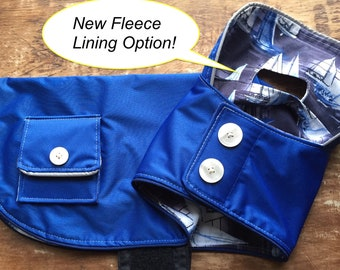 Blue Dog Raincoat, you choose lining!