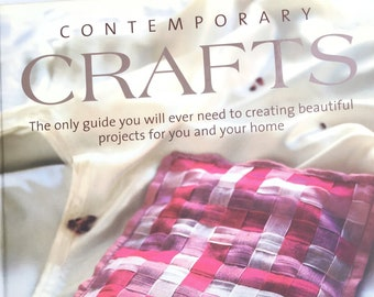 Contemporary Crafts Hardcover Book by Katherine Sorrell, craft guide book, craft project book
