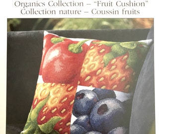 DMC Counted Cross Stitch Kit Organics Collection - Fruit Cushion