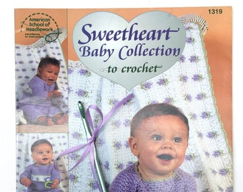 Sweetheart Baby Collection to Crochet Pattern Book with Size H Crochet Hook