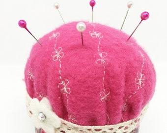 Boho Pin Cushion with compact sewing kit