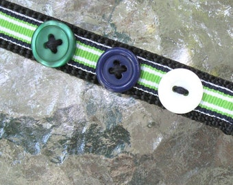 Preppy Stripes Dog Collar, cute collar for male or female dogs, extra small