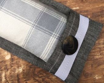 Linen Aromatherapy Flax Seed Eye Pillow with Dust Cover