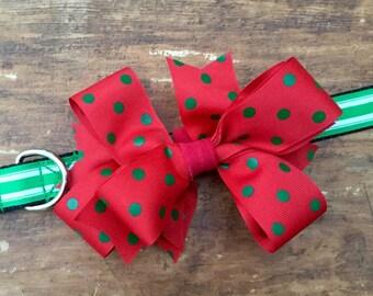 Christmas Bow Dog Collar