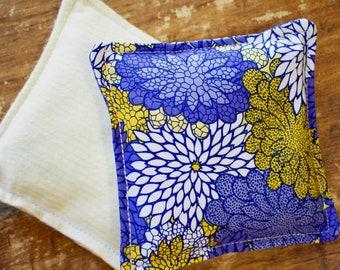 Blue Floral Drawer Sachet, You choose Rose buds, lavender buds or spearmint leaves