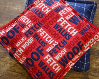 Woof! Go Fetch! Vanilla Scented Flax Seed Hand Warmers