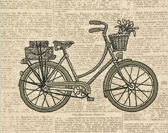 Dimensions Stamped Embroidery, Classic Bicycle, bicycle lover