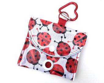 Ladybug Dog Waste Bag Dispenser, matches Ladybug Raincoat!