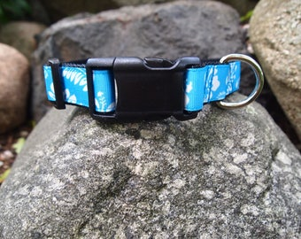 Blue Hawaiian Small Dog collar