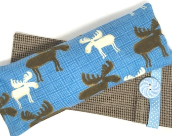 Moose Eye Pillow with Washable Flax Sack Cover, you choose aromatherapy scent!