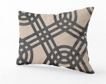 Linen Decorative Pillow, 14x10 inches