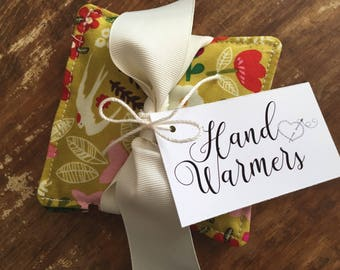 Scandinavian Print Vanilla Scented Flax Seed Hand Warmers