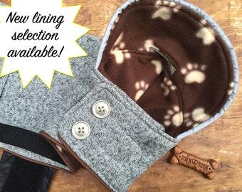 Reflective Sweater Fleece Dog Coat, you choose lining!
